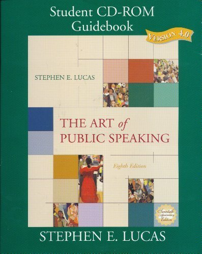 9780072988772: The Art of Public Speaking: Student CD-ROM Guidebook (CD and Book)