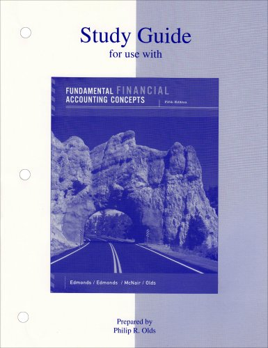 9780072989458: Study Guide (for use with) Fundamental Financial Accounting Concepts, 5th Edition