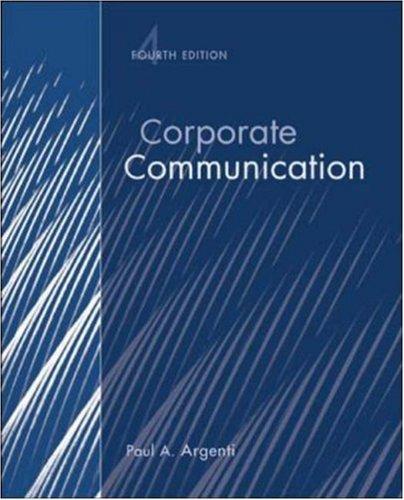 9780072990546: Corporate Communication