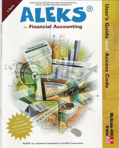 9780072990874: ALEKS for Financial Accounting - User's Guide and Access Code