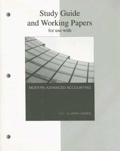 9780072991161: Study Guide and Working Papers for Use With Modern Advanced Accounting (10th Ed.)