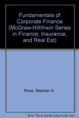 9780072991581: Fundamentals of Corporate Finance (McGraw-Hill/Irwin Series in Finance, Insurance, and Real Est)