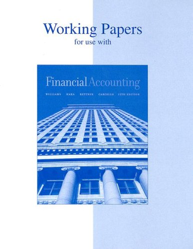 9780072991765: Working Papers to accompany Financial Accounting