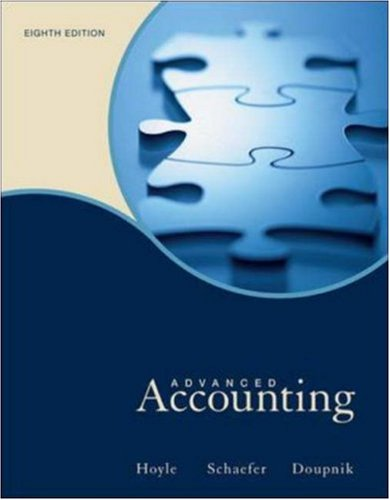 Advanced Accounting: Joe Ben Hoyle,