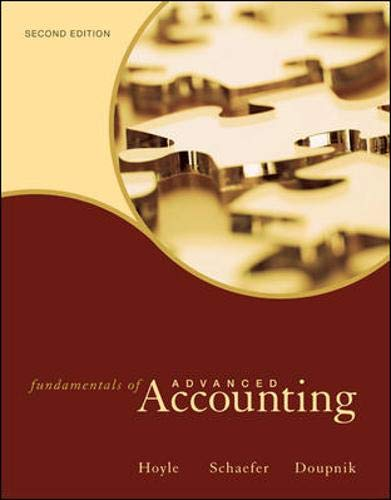 Fundamentals of Advanced Accounting: Joe Ben Hoyle,
