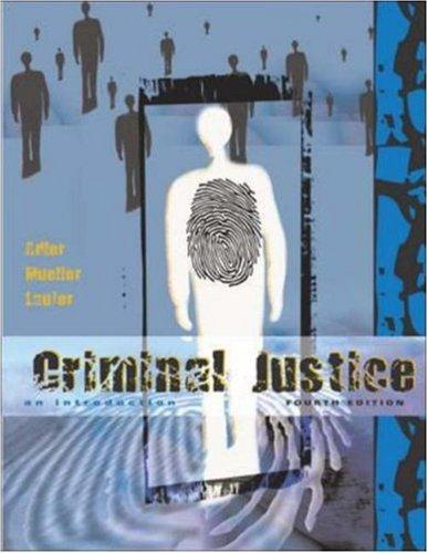9780072993288: Criminal Justice: An Introduction