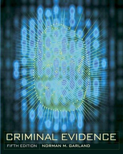 9780072993301: Criminal Evidence
