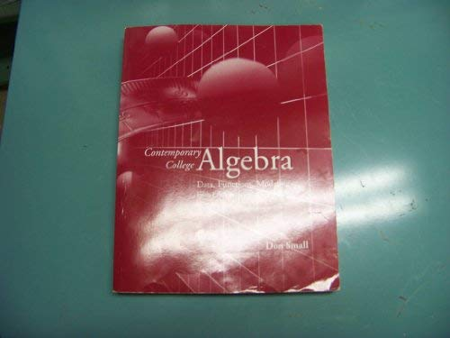 9780072994063: Contemporary College Algebra: Data, Functions, Modeling (with CD)