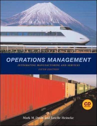 9780072994353: Operations Management: Integrating Manufacturing and Services 5e with Student CD and PowerWeb