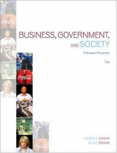 9780072994421: Business, Government and Society: A Managerial Perspective
