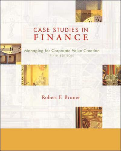 9780072994759: Case Studies in Finance