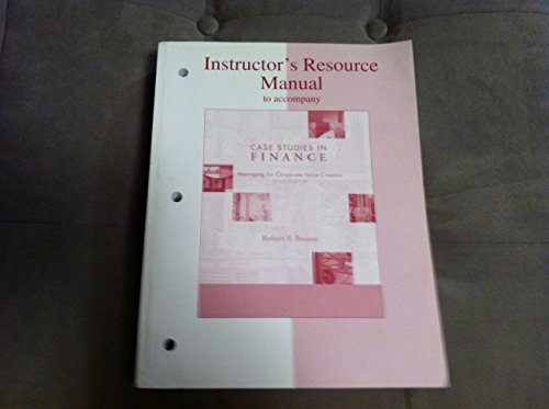 Instructors Resource Manual to Accompany: Bruner