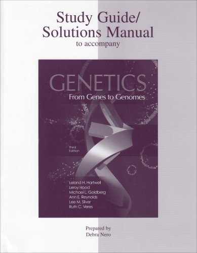 9780072995879: Genetics: From Genes to Genomes (3rd Edition Study Guide)
