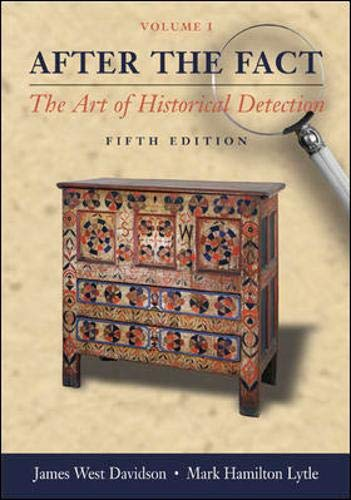 9780072996104: After the Fact, Volume I, The Art of Historical Detection CD