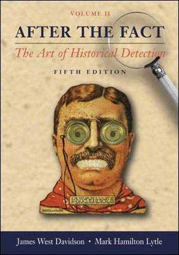 9780072996111: After the Fact, Volume II, with Primary Source Investigator CD: The Art of Historical Detection