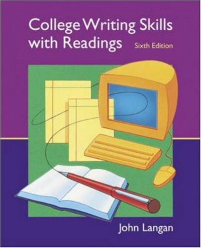 9780072996272: College Writing Skills with Readings, 6th Edition (Text, Student CD, User's Guide, and Online Learning Center powered by Catalyst)