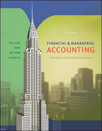 Financial and Managerial Accounting : The Basis: Joseph V. Carcello;