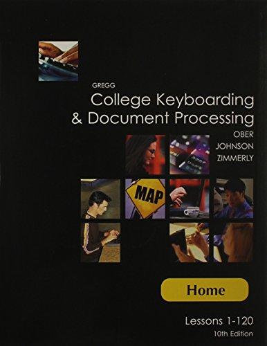 9780072997927: College Keyboarding Etc (Home: 1-120)(W/CD) 10th