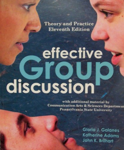 9780072998900: Effective Group Discussion: Theory and Practice