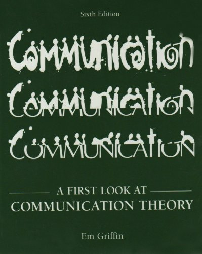 9780073010182: A First Look at Communication Theory
