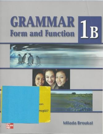 9780073011967: Grammar Form and Function Split Ed 1B SB