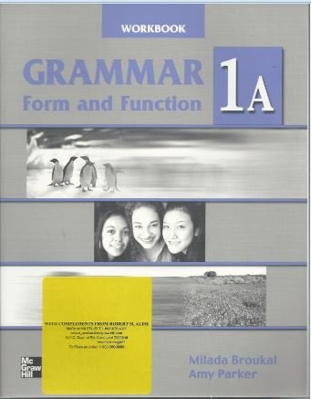 9780073011974: Grammar Form and Function Split Ed 1A WB