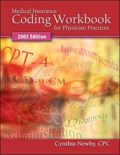 9780073014708: Medical Insurance Coding Workbook for Physician Practices 2005 edition