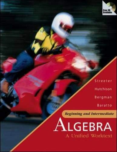 9780073016146: Beginning and Intermediate Algebra: A Unified Worktext with MathZone