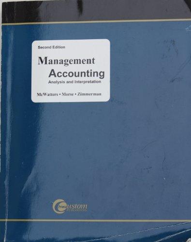 9780073016276: Management Accounting Analysis and Interpretation