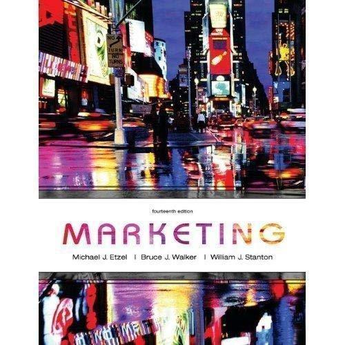 Marketing: Michael J. Etzel;