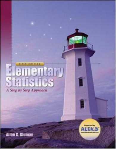 9780073016474: Elementary Statistics: A Step-By-Step Approach with MathZone Student Edition
