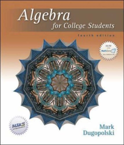 9780073019291: Algebra for College Students w/MZ
