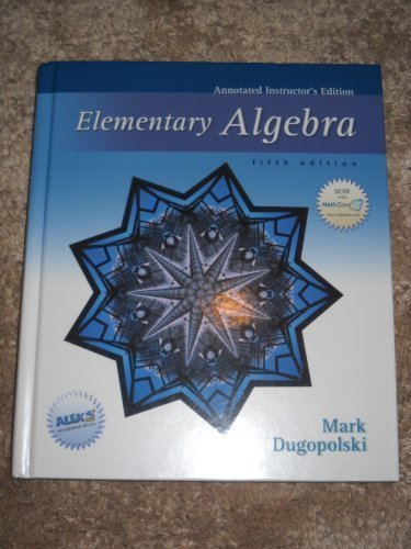 9780073022369: Elementary Algebra (Annotated Instructor's Edition)