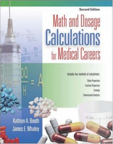 9780073022628: Math and Dosage Calculations for Medical Careers with Student CD-ROM