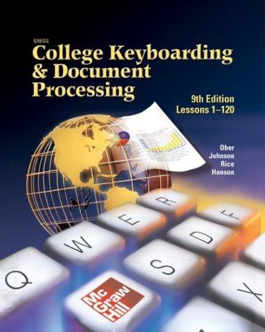 9780073023380: Gregg College Keyboarding & Document Processing (GDP), Home Version, Kit 3, Word 2002, v2.0