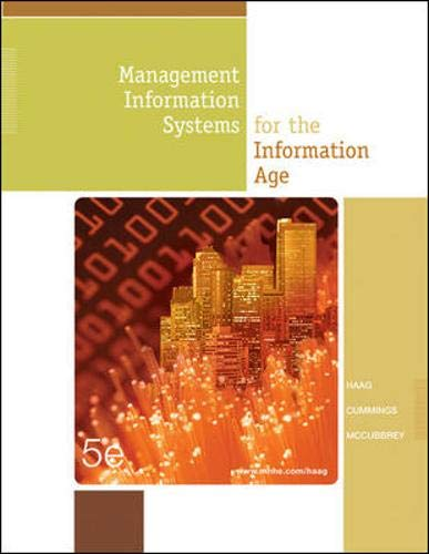 Management Information Systems for the Information Age,: Stephen Haag, Maeve