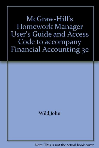 McGraw-Hill's Homework Manager User's Guide and Access Code to accompany Financial ...