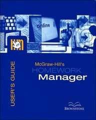 9780073025155: McGraw-Hill's Homework Manager User's Guide and Access Code to accompany Intro to Managerial Accounting 2e