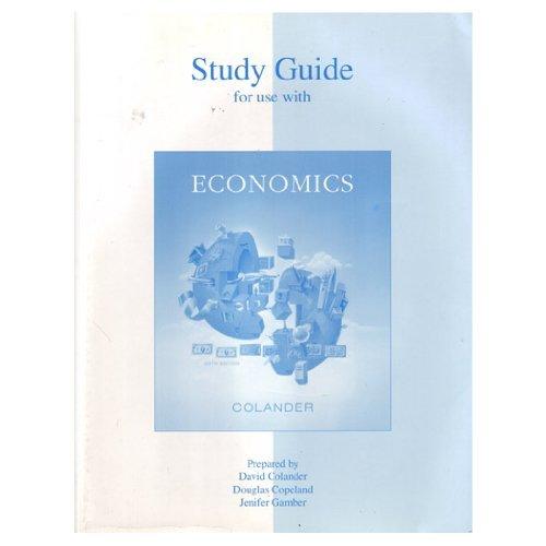 9780073026862: Study Guide t/a Economics