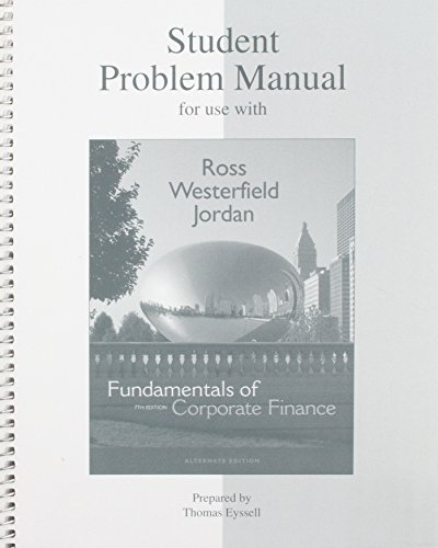 9780073027159: Student Problem Manual to accompany Fundamentals of Corporate Finance 7e (McGraw-Hill Series in Finance)