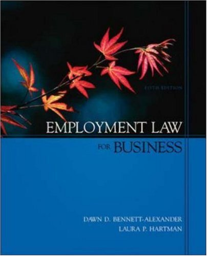 9780073028958: Employment Law for Business (Irwin/McGraw-Hill Legal Studies in Business Series)