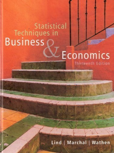 Statistical Techniques In Business And Economics 13th Edition Pdf
