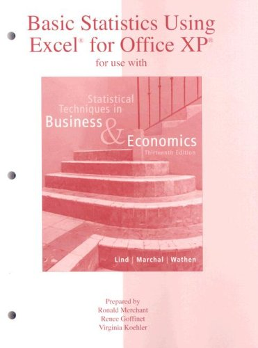 9780073030265: Basic Statistics Using Excel to accompany Statistical Techniques in Business and Economics