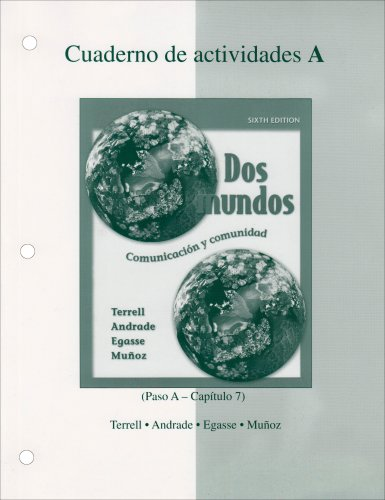 9780073030845: Workbook/Lab Manual Part A to accompany Dos mundos