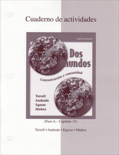 9780073030913: Dos Mundos: Cuaderno de actividades (Spanish Edition)