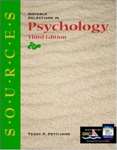 9780073031873: Sources: Notable Selections in Psychology