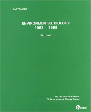 9780073032016: Environmental Biology: 1998-1999