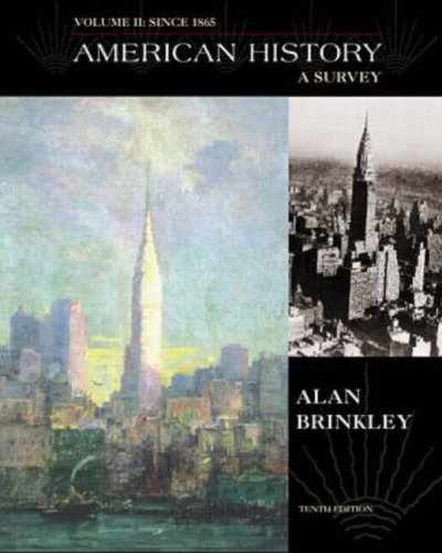 9780073033921: American History: A Survey Since 1865