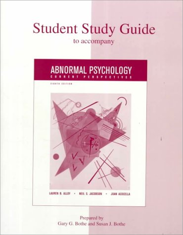 9780073034690: Student Study Guide for Abnormal Psychology