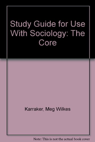 9780073035468: Study Guide for use with Sociology The Core